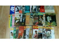 43 x no holds barred / karate / combat / fighter magazines books 70's -80's