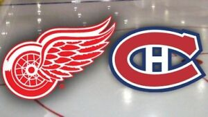 2 billets Blanc Central AA Canadiens vs Red Wings 12 mars