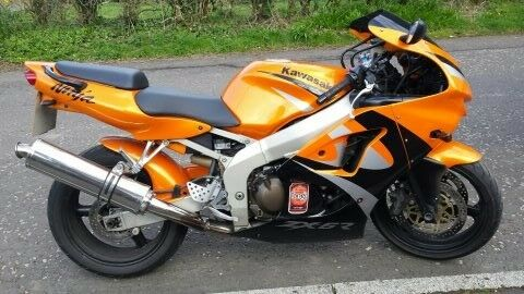 Kawasaki ZX6R Ninja In Orange And Black