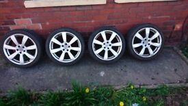 Winter tyres with alloys VW Audi Skoda Seat