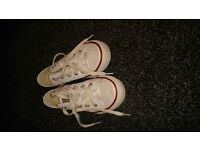 kids white converse as new size 11