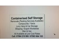 CONTAINER SELF STORAGE AT UPMINSTER