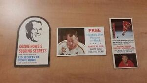 Rare Original 1966-67 Gordie Howe Cereal Box Hockey Cards