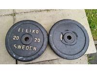Eleiko 20kg Bumper Weight Plates