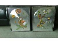 2 x michelle emblem foil / hand painted pictures - rose fairy / petal