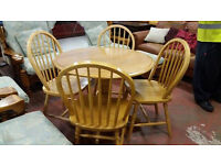 Circular countrystyle dining table with 4 chairs