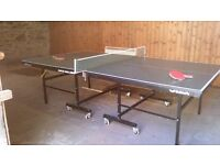 Full size fold away table tennis table