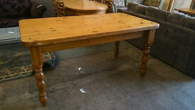 Farmhouse pine kitchen table