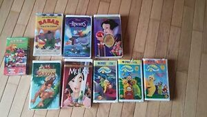 9 VHS movies - 2 are still wrapped