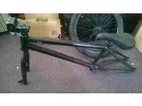 custom bmx united frame trinity forks eastern wheel