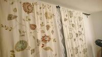 Pottery Barn embroidered drapes 2 Panels for sale
