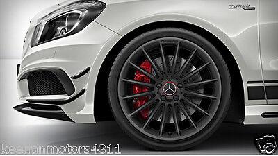Genuine oem mercedes benz raised red black center cap for Mercedes benz black center caps
