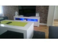 Dining table, tv unit and coffee table set.