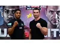 Anthony Joshua Vs Wladimir Klitschko. x3 tickets available for sale
