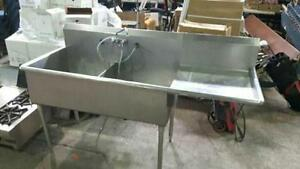 Stainless Steel Commercial Double sink ! SAVE!