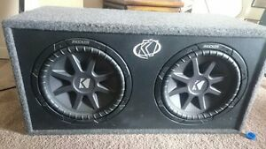 """12"""" CompVR's (two) in sub box w/ Capacitor"""