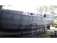 Bruce Roberts 37ft Steel Spray bare hull