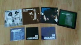 "9 x the charlatans rare 7"" vinyls / promo cd singles"