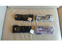 4 pairs of Sight Station reading glasses