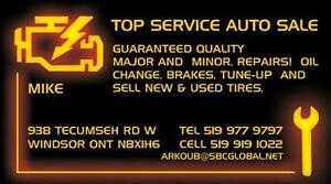 WE SELL GOOD  USE TIRE & NEW TIRE   MAJOR AND MINOR AUTO REPAIRS Windsor Region Ontario image 8