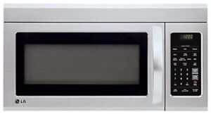 New LG Over the range microwave, stainsteel, 1.8 cu. ft.