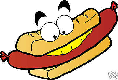 Hot Dog Concession Cart Fast Food Truck Vinyl Sign Sticker Decal 15