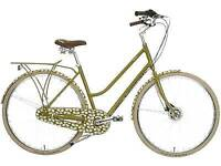 Olive and orange designer orla kiely bike