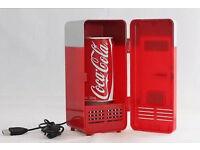 USB Mini Fridge Desktop Car Refrigerator gadget gift beverage drink can cooler warmer brand new