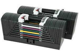 PowerBlock 9.0 Adjustable Dumbbells with 4 Stages 5lbs to 130lbs