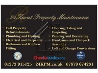 Handyman available from £20/hour at 24 Karat Property Maintenance !!!