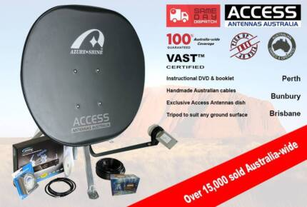 Access Antennas Portable Satellite VAST TV Kit for caravan