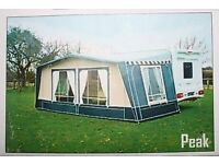 Peak caravan awning SOLD