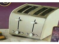 Brand new Kitchen Collection 4 slices metallic toaster