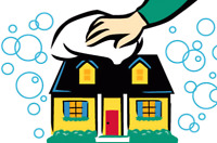 Tidy home cleaning services.