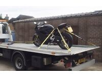 MOTORBIKE / MOTORCYCLE RECOVERY. MOPED SCOOTER