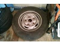 1 r15 5 stud ford transit swb mrk 6 wheel - used 195-70 tyre