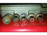 2 full sets of ford car alloy wheel locking wheel nut bolts