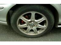 R17 5 stud silver jaguar x type alloy wheels - tyres