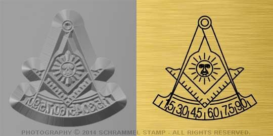 #M04 PAST MASTER Free Masonic Lodge Steel HAND STAMP - Gold Platinum Metal Die