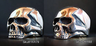 Keith Richards Skull Ring Sterling Silver Rolling Stones Rare Boon Jewelry KR L