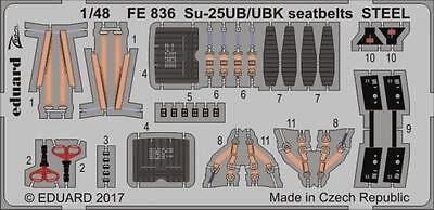 Eduard Zoom FE836 1/48 Sukhoi Su-25UB / Ubk Cinture Sedili Acciaio Smer