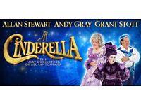 Christmas Panto Cinderella in Kings Theatre 2+1 tickets 6th Dec 2017