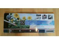 60 artist assorted pencils
