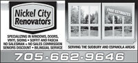 NICKEL CITY RENOVATORS LTD.- THE TIME IS NOW !!