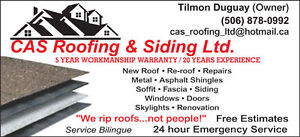 Cas Roofing & Siding ..10% discount seniors ,millitary