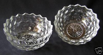 2 COLONY / INDIANA GLASS 1950 WHITEHALL SERVING BOWLS