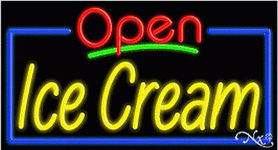 New Open Ice Cream 37x20x3 Border Real Neon Sign Wcustom Options 15433
