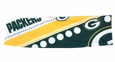 Green Bay Packers Satin Stretch Headband Womens Ladies NFL Team Apparel
