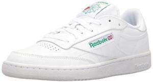 2390a549f001f Men Reebok Classic Club C 85 Soft Leather White Green Authentic AR0456 11