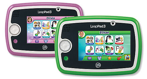 LeapFrog LeapPad3 Kids' Learning Tablet high-performance tablet, Green, Pink